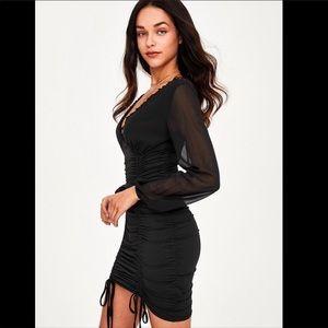 💃🏻Alexandra Black Mini Dress